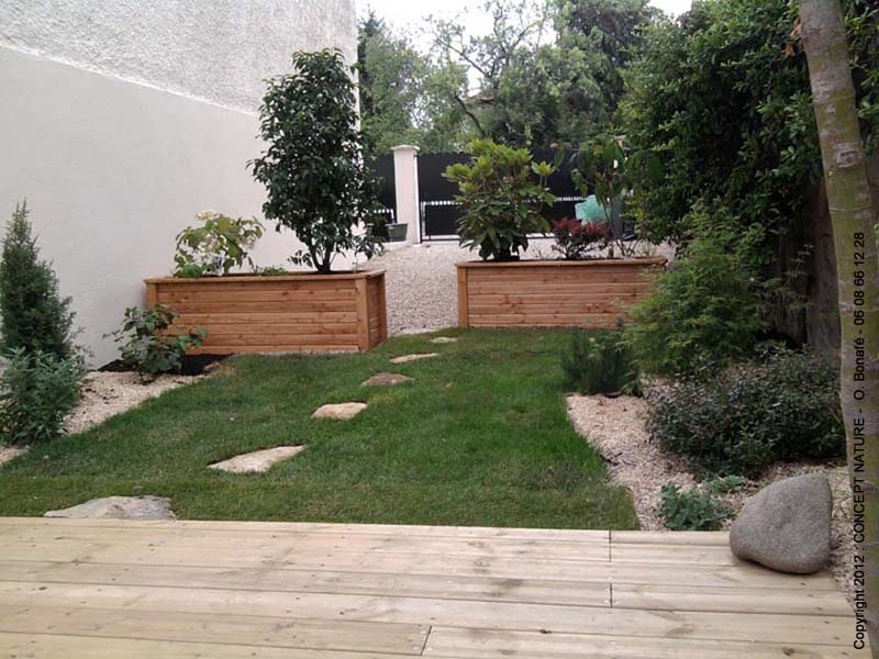 Terrasse jardin de ville