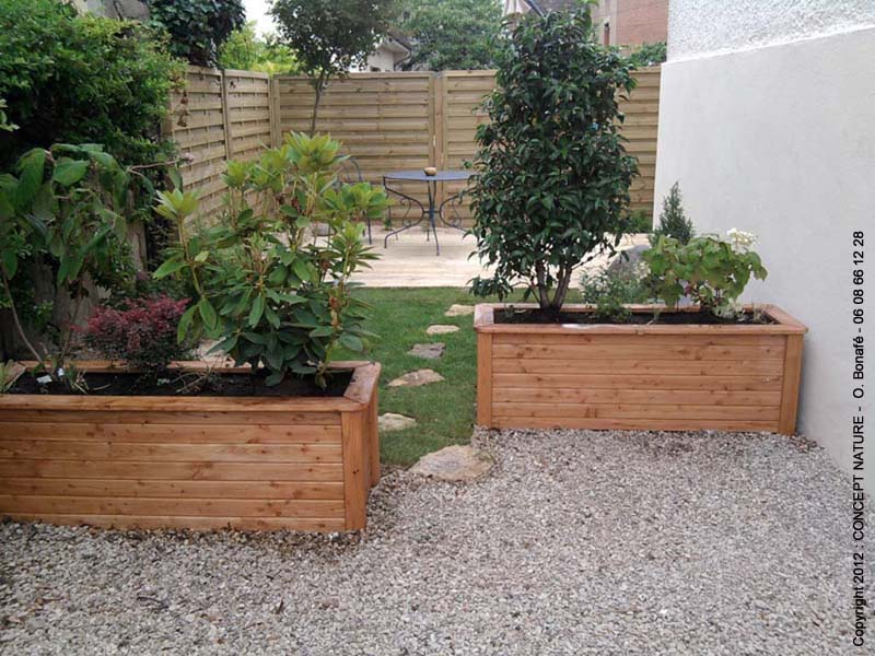 Terrasse jardin amenagement for Amenager une cour exterieur