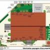 plan d'aménagement d'un jardin de ville avec terrasse bois