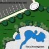 plan général d'aménagement du centre aquatique de montbard