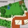 plan d'aménagement pour un jardin sans entretien, création : olivier bonafé