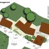 Plan d'aménagement de propriété jardin anglais , création: olivier bonafé